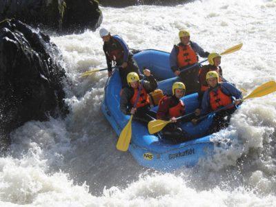 Rafting auf Gletscherfluss in Island