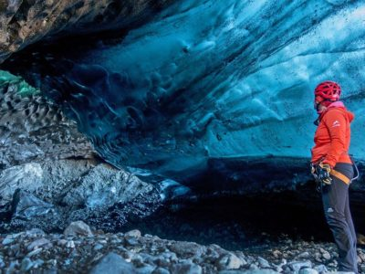 Blaie Eishöhle im Sólheimajökull